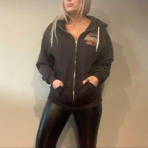 Vintage Harley Davidson zip up hoodie